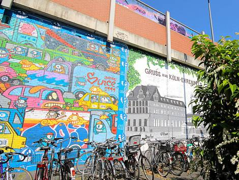Köln, Ehrenfeld, Graffiti, Street Art, Straßenkunst, Foto: immowelt.de/Verena Kauzleben
