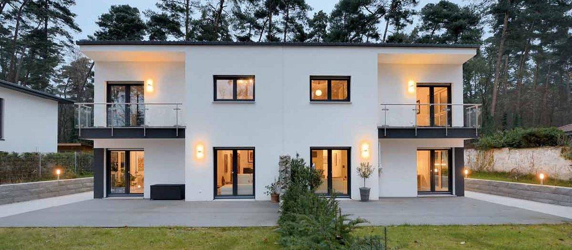 Doppelhaus für mehr Freiraum und Flächeneffizienz
