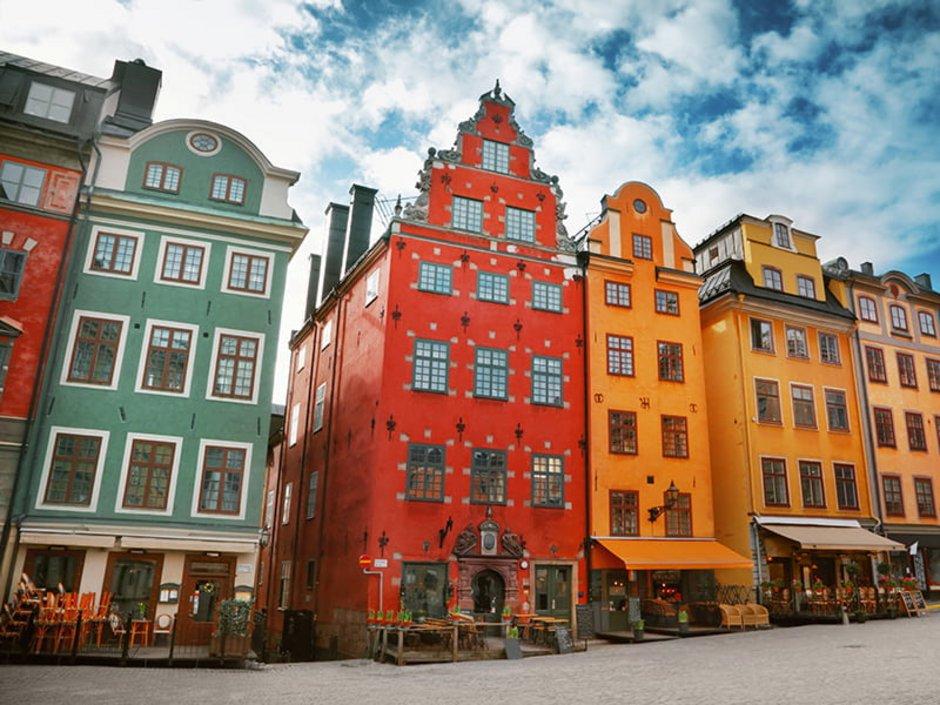 Auswandern nach Schweden, Bunte Häuser in der schwedischen Hauptstadt Stockholm Foto: adisa/stock.adobe.com