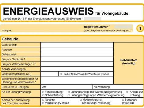 Energieausweis lesen, Energieausweis richtig lesen, Muster Energieausweis, Grafik: bmwi