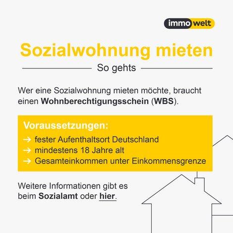 sozialer Wohnungsbau, Wohnung mieten, Grafik: immowelt.de
