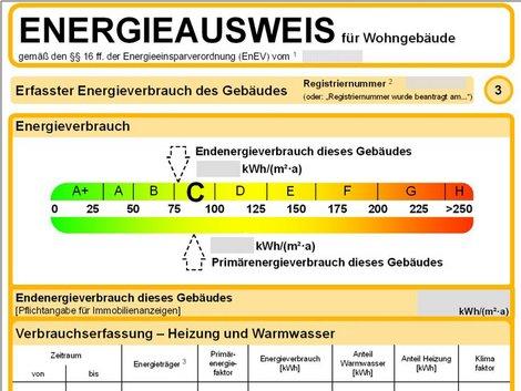 Energieausweis lesen, Energieausweis richtig lesen, Verbrauchsausweis, Grafik: bmwi