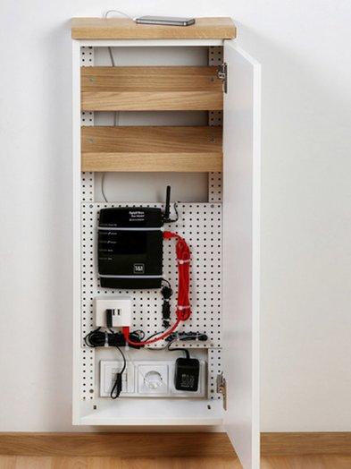 Kabel verstecken, Sideboard im Flur, Foto: tiny-sideboards.de