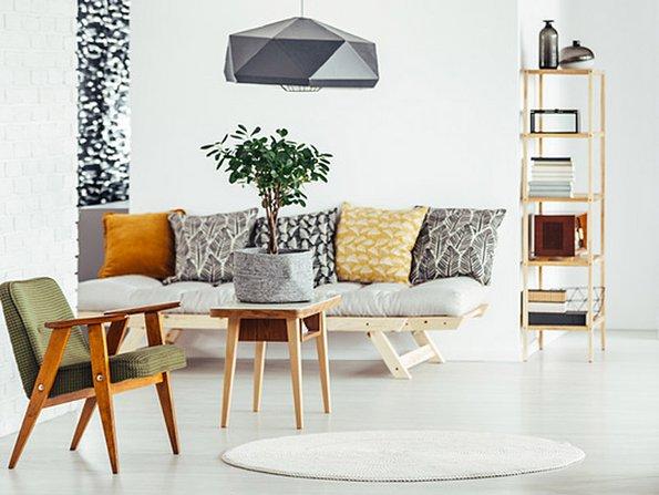 Schlafcouch, kleine Wohnung einrichten, kleines Zimmer gestalten, kleine Räume einrichten, Foto: Photographee.eu / fotolia.com