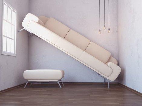 Irrtümer Mietrecht, Sofa passt nicht ins Zimmer, Foto: iStock.com/Eoneren