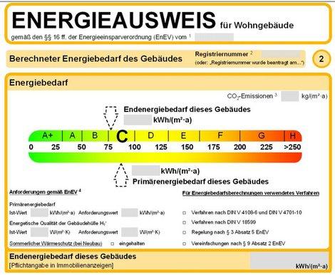 Energieausweis lesen, Energieausweis richtig lesen, Bedarfsausweis, Grafik: bmwi