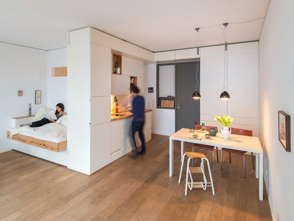 Kleine Wohnung einrichten, Zimmer einrichten, kleines Zimmer einrichten, kleine Räume einrichten, Foto: Thomas Straub / ifub.de & holzgeschichten.com
