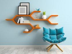 Wandregal aufhängen, Regal, Wand, Dübel, Foto: Dmitry Koksharov/Fotolia