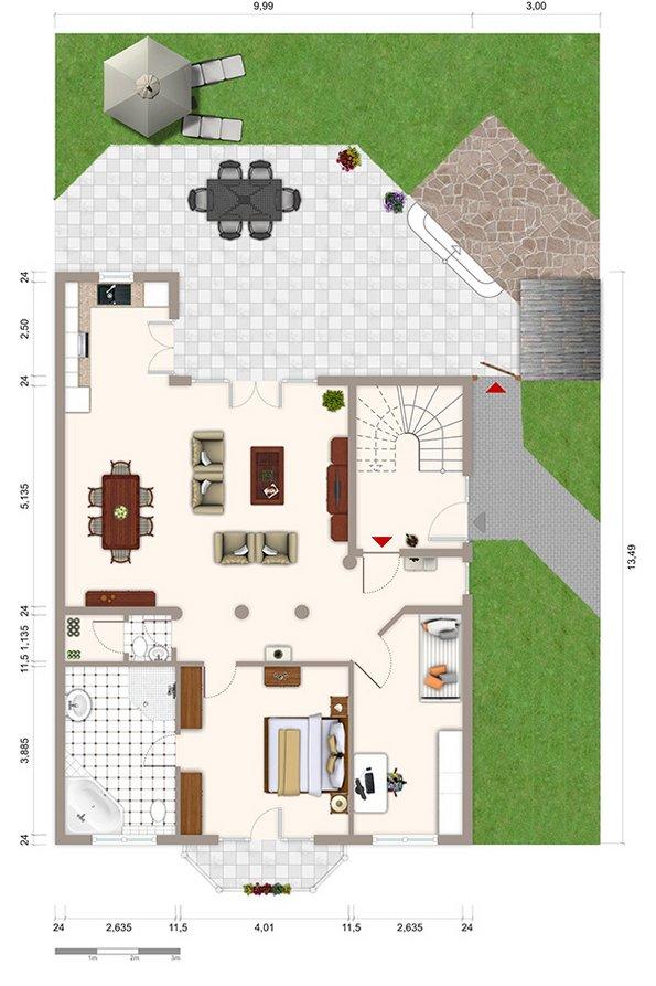 Provisionssplit Tipps, geteilte Provision Tipps, optionaler Grundriss, Grafik: Immobilien Raue