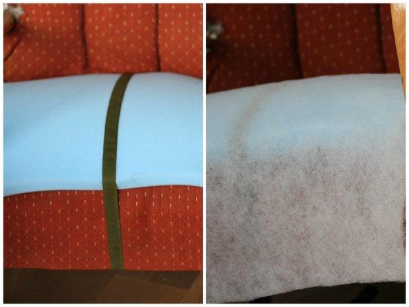 alte Möbel aufpeppen, Sessel beziehen, Schaumstoffauflage, Foto: Inna Scherer / immowelt.de