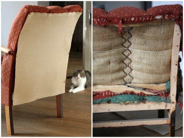 alte Möbel, Sessel beziehen, Foto: Inna Scherer / immowelt.de