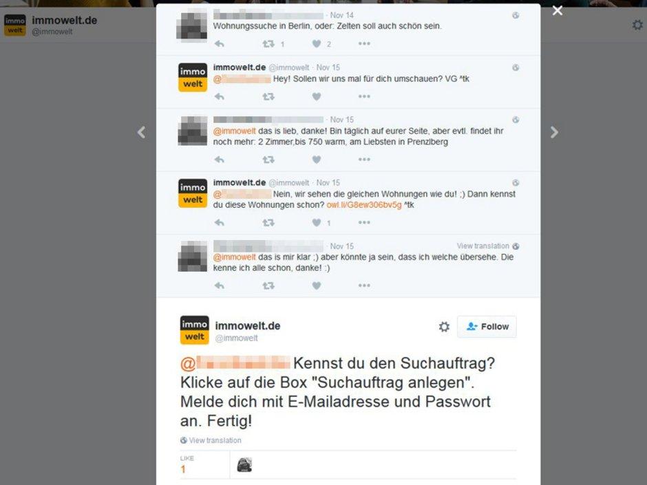 Social Media, Makler Twitter, Screenshot: twitter.com/immowelt