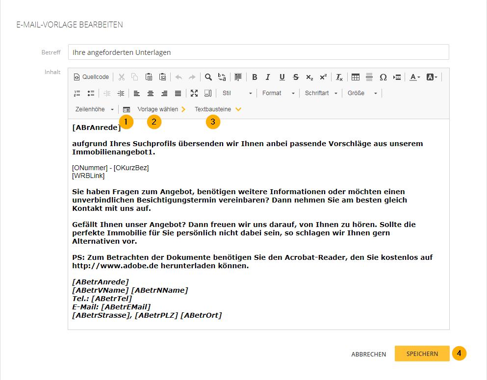 So definieren und bearbeiten Sie E-Mail-Vorlagen